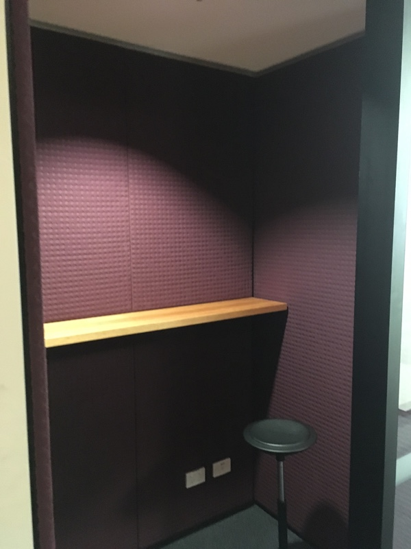 Acoustic Upholstered Phone Booth - Fabric Detail