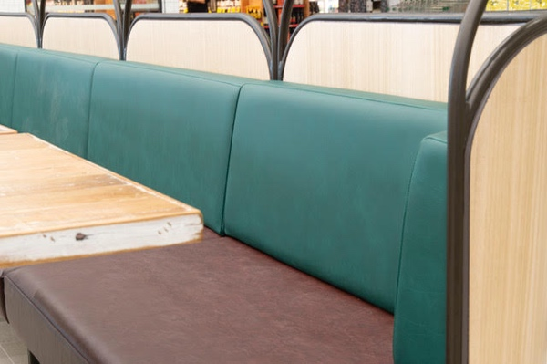 High quality European vinyl is easy clean and fire rated - not to mention stylish!