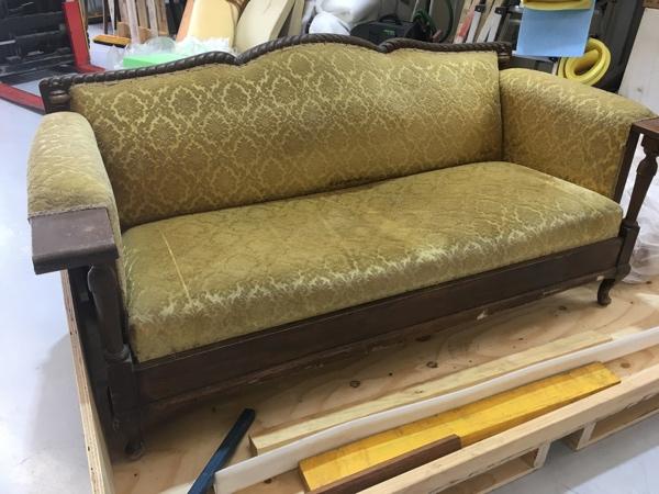 Sydney lounge upholstery - Before