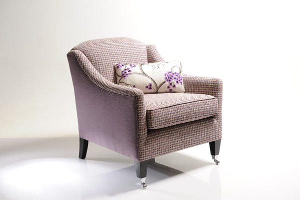 Select patterned purple upholstery fabrics for powerful impact