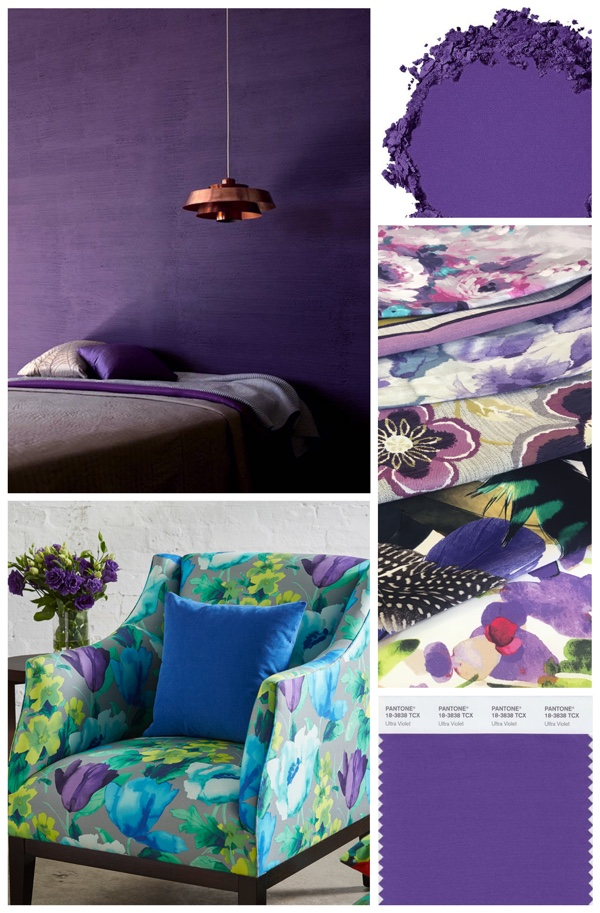 Use purple as an accent to highlight walls, objects or a favourite piece of furniture